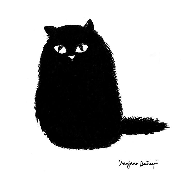 Тучка Котомафия, Кот, Черный кот, Арт, Рисунок