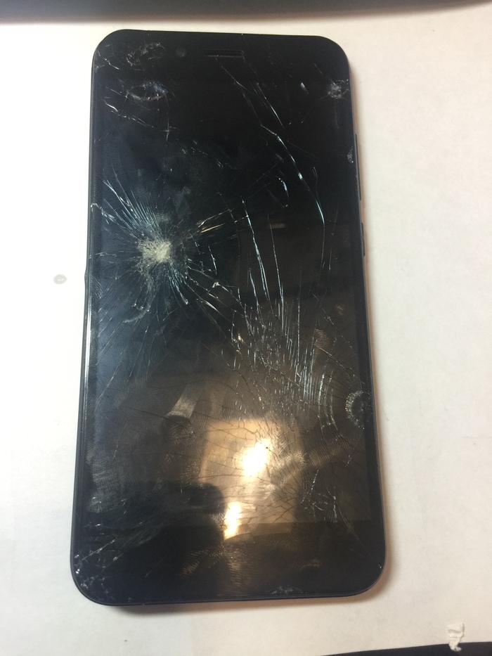 Ремонт убитого Xiaomi Mi A1 после колёс машины. Ремонт телефона, Ремонт техники, Длиннопост