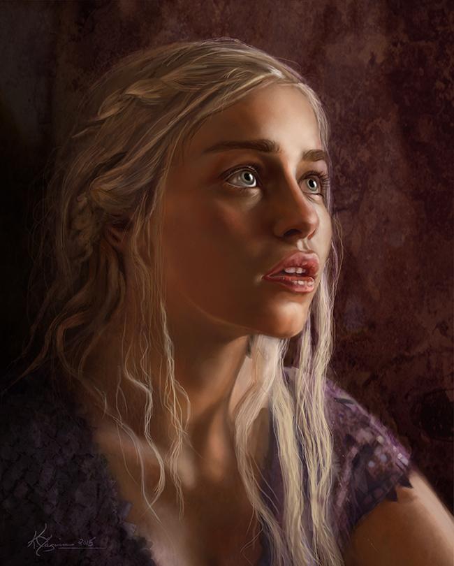 Дейнерис Бурерождённая Арт, Игра престолов, Мать драконов, Дейенерис Таргариен