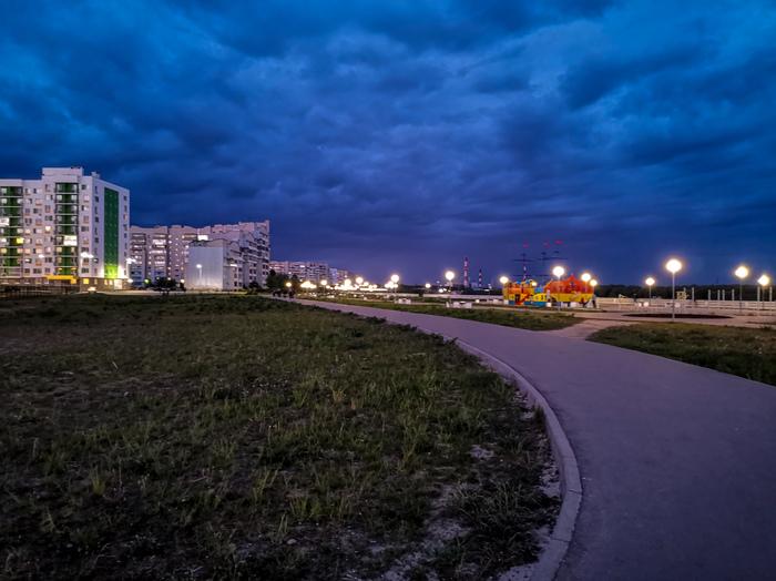 Ночная прогулка Дзержинск, Мобильная фотография, Ночь, Город, Длиннопост, Велосипед