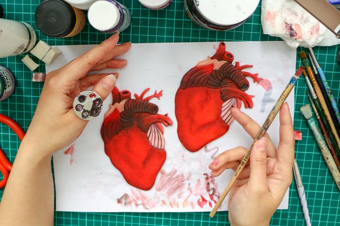 Сердца из полимерной глины Рукоделие с процессом, Полимерная глина, Ручная работа, Сердце, Видео