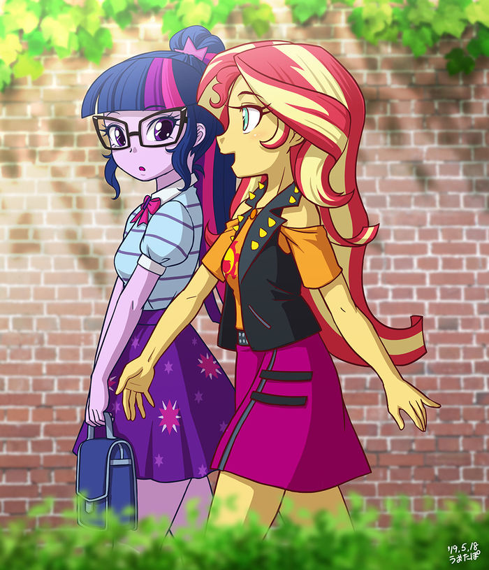 Que Sera Sera My Little Pony, Equestria Girls, Sunset Shimmer, Twilight Sparkle, Uotapo
