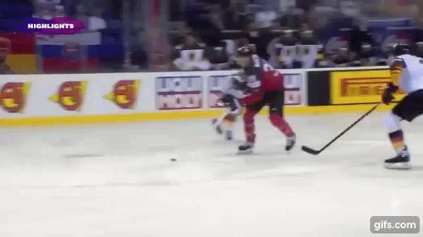 Канадцы уничтожили немцев на ЧМ со счетом 8-1 Спорт, Хоккей, Хоккей ЧМ 2019, Гифка