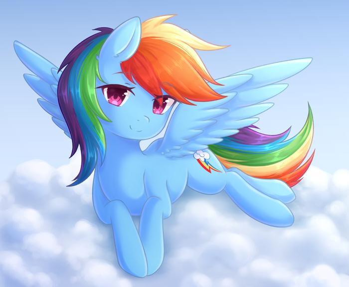 Дэши My Little Pony, Ponyart, Rainbow Dash, Fluffymaiden