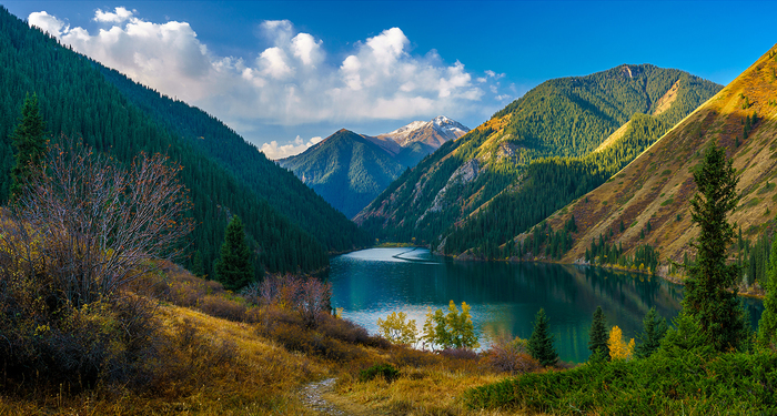 Кольсайские озёра Фотография, Горы, Озеро, Красота природы