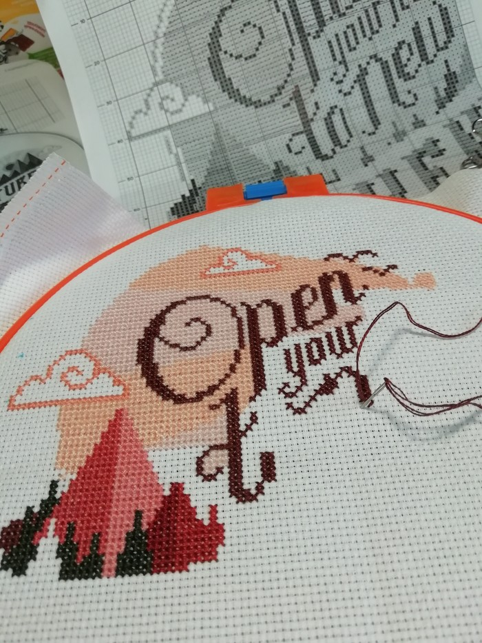 Открой свое сердце.. Вышивка, Рукоделие с процессом, Своими руками, Сердце, Хобби, Вышивка крестом, Длиннопост