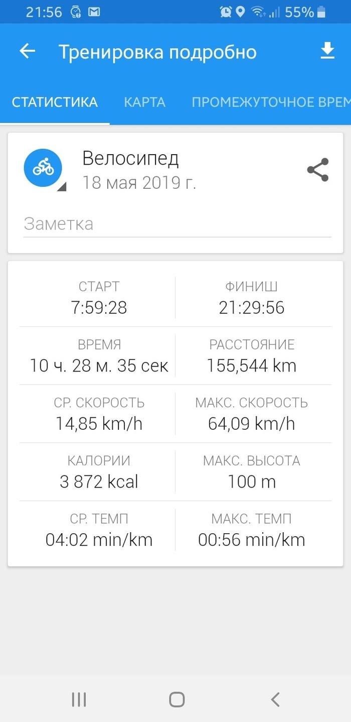 Поставил свой новый рекорд Покатушки, Велосипед, Озеро, Длиннопост