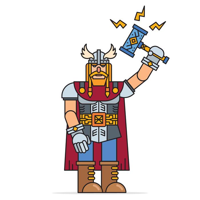 Тор сын Одина Тор, Бог, Скандинавская мифология, Скандинавия, Мифология, Фольклор, Векторная графика