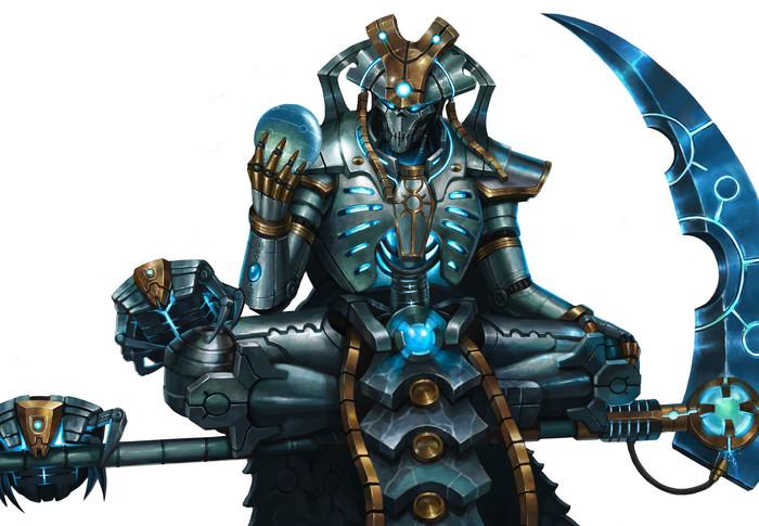 Necron Overlord byL J Koh Warhammer 40k, Wh Art, Necrons, Necron Overlod