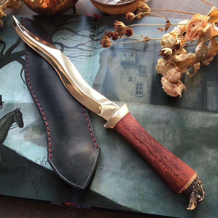 Бронзовый кинжал. Нож, Кинжал, Литье металла, Длиннопост, Рукоделие без процесса, Ковка, Ручная работа