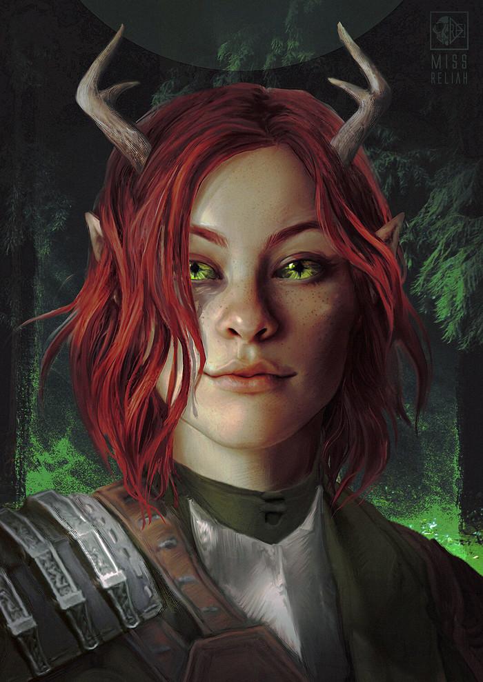 Босмерка Арт, Игры, The Elder Scrolls, The Elder Scrolls Online, Босмеры, Эльфийка