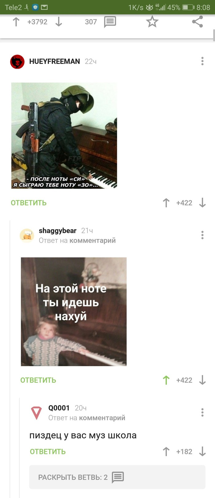 Муз школа Комментарии, СИЗО, Длиннопост
