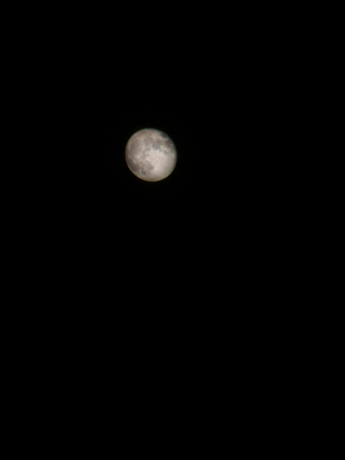 Луна в бинокль Луна, Фотография, Плохое качество фото, Длиннопост