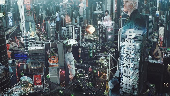 Ghost in the Shell Concepts Mark Kolobaev, Призрак в доспехах, Концепт-Арт, Фильмы, Фантастика