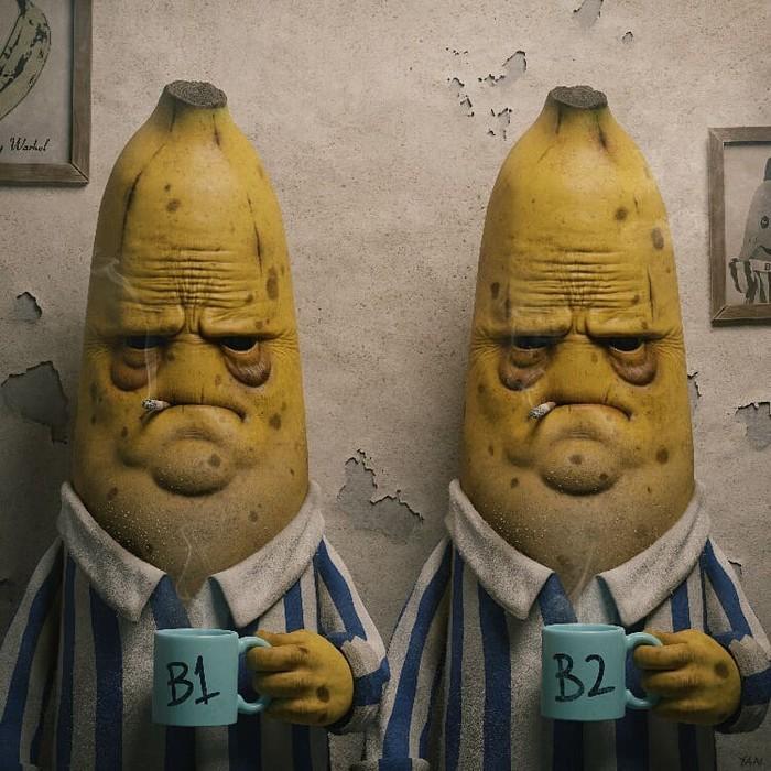Бессонница Арт, 3D рисунок, Банан, Антро
