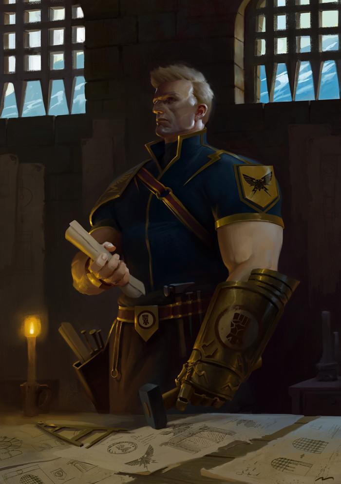 Rogal Dorn & Perturabo by Mauro Belfiore Warhammer 30k, Horus Heresy, Perturabo, Rogal Dorn, Wh Art, Длиннопост