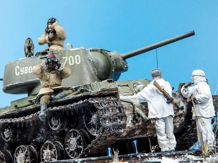 Зимой у ЖД Моделизм, Стендовый моделизм, Великая Отечественная война, Длиннопост