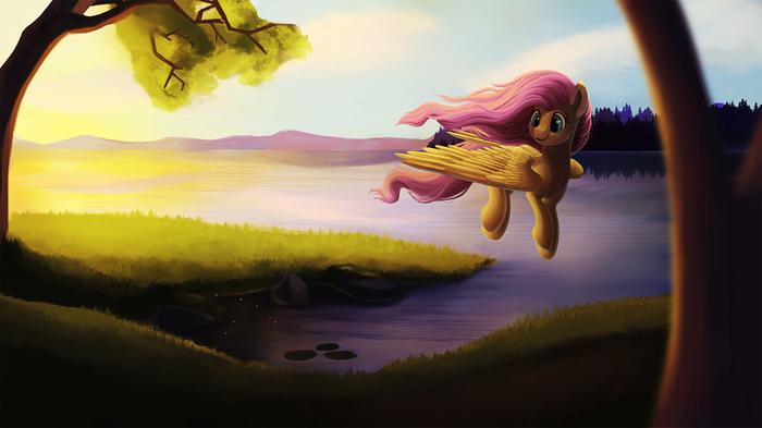 Fluttershy Hurrying Home My Little Pony, Fluttershy, Camyllea