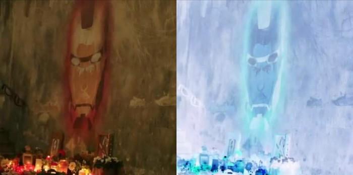 """Граффити Тони Старка в трейлере """"Человек-паук: Вдали от дома"""" Железный человек, Человек-Паук, Человек-Паук: Вдали от дома, Marvel, Спойлер, Мстители: Финал"""