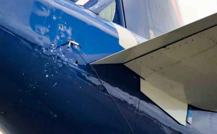 СКР начал проверку после повреждения тросом заземления Суперджета-100. Новости, Авиация, Sukhoi Superjet 100, Небо, ЧП