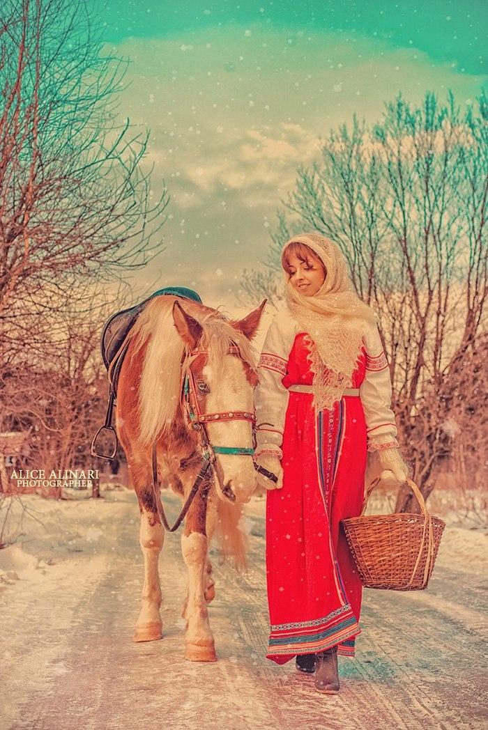 Зимняя сказка Русские сказки, Красота природы, Русская красавица, Зимний лес, Лошади, Длиннопост