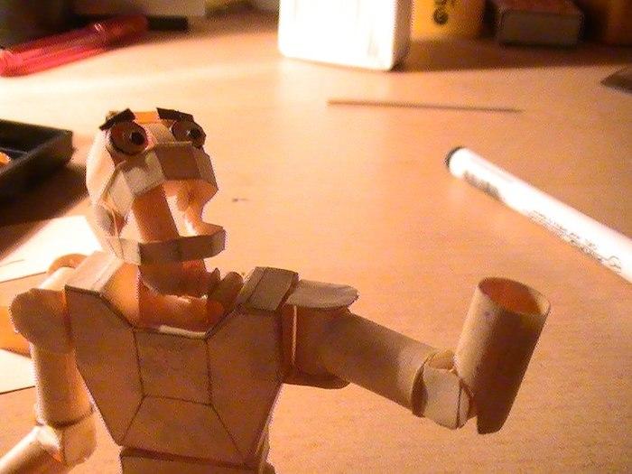 Переделал робота из бумаги с 2012 года! Papercraft, Пятничный тег моё, Ручная работа, Длиннопост, Интересное, Своими руками, Робот, Бумажный моделизм