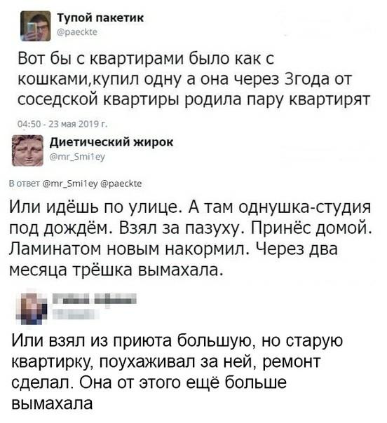 Про квартиры Квартира, Шутка, Скриншот, Twitter