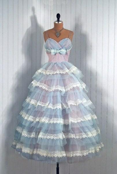 Выпускные платья 1950-х годов Винтаж, Красивые платья, 50-е, Мода, Длиннопост, Платье, Выпускной