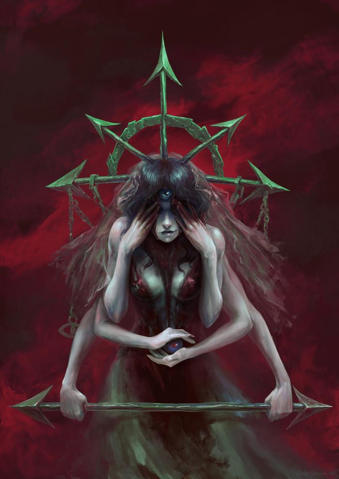 Eyes of Chaos Арт, Рисунок, Хаос, Звезда, Глаза, Gina Nelson
