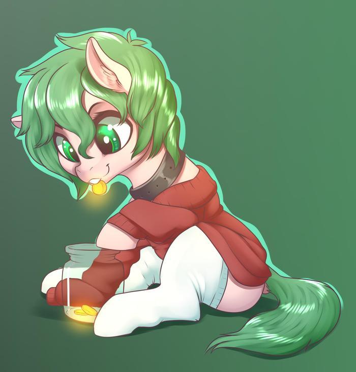 Храните деньги в банке My Little Pony, Original Character, Dankflank