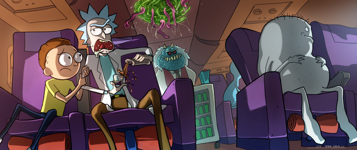 Rick and Morty. Арт, Фан-Арт, Картинки, Длиннопост, Приключения, Рик и Морти, Мультивселенная