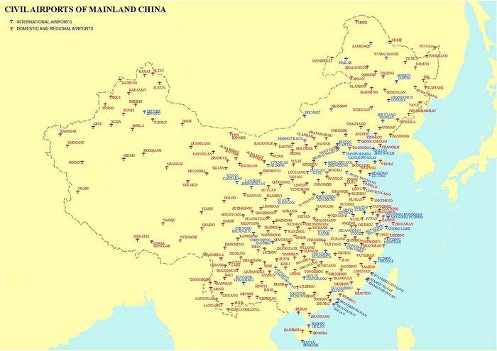 Гражданские аэропорты Китая Китай, Авиация, Аэропорт, Длиннопост