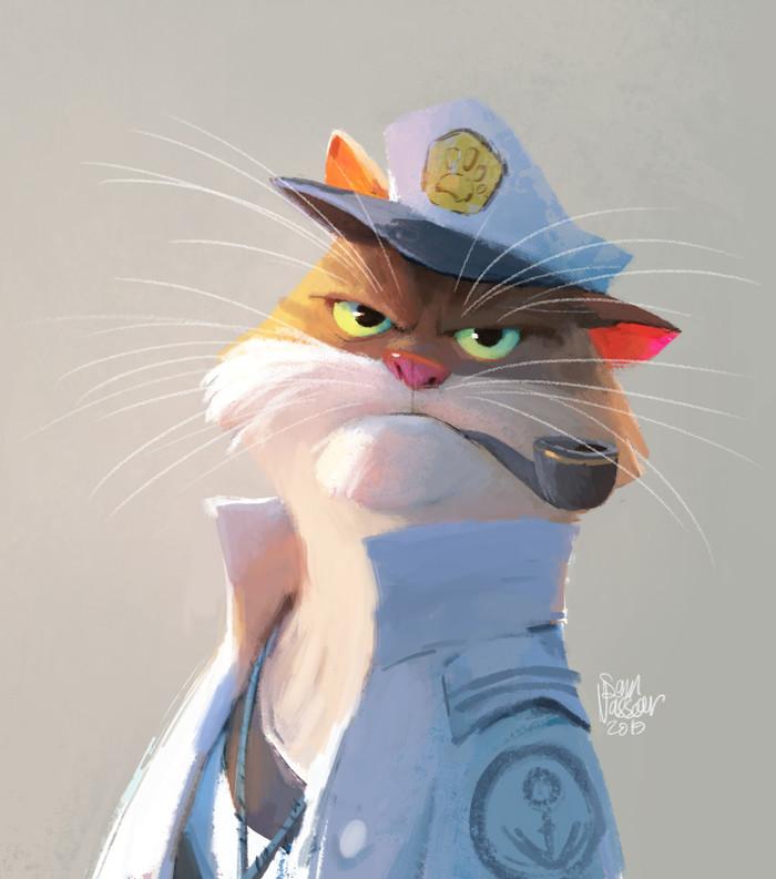 Капитан Whiskers Арт, Рисунок, Кот, Капитан