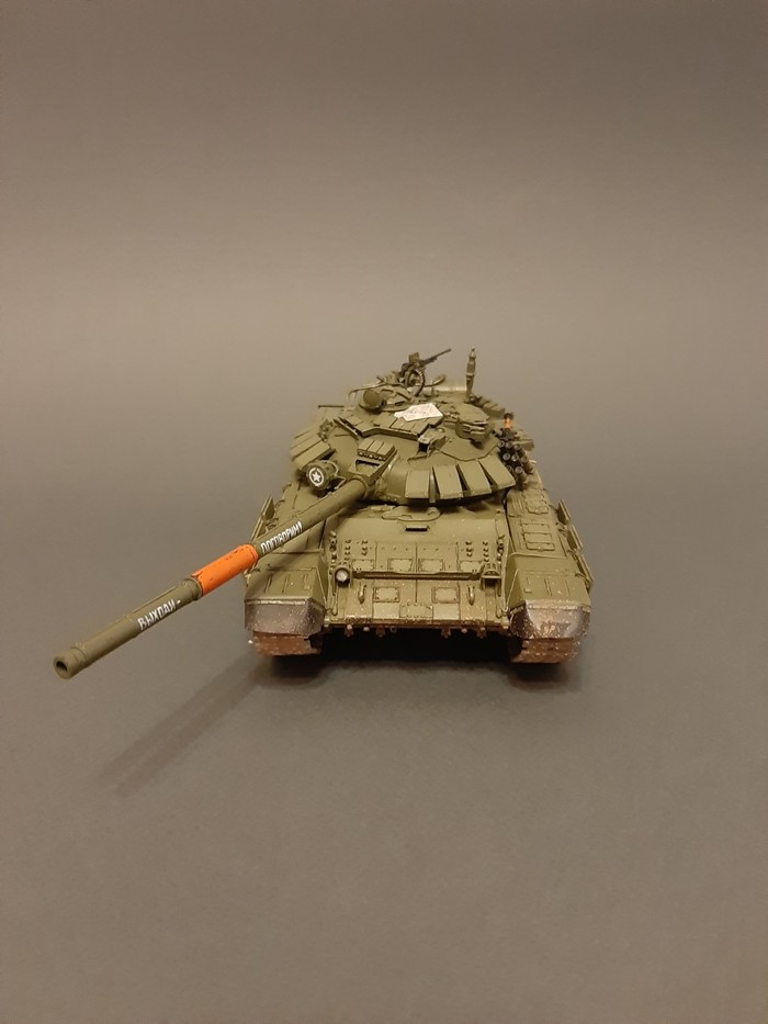 Т-72 БА, российский танк Сборная модель, Стендовый моделизм, Танки, Российская армия т-72, Длиннопост