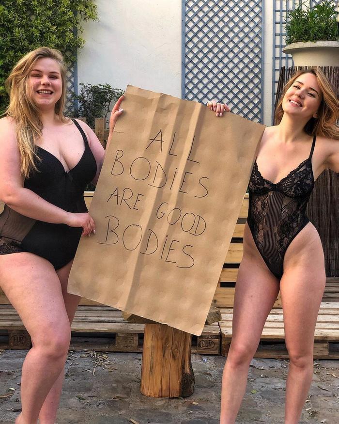 Инста-модель лишилась контракта из-за фото со своей подругой в нижнем белье Модели, Девушки, Длиннопост