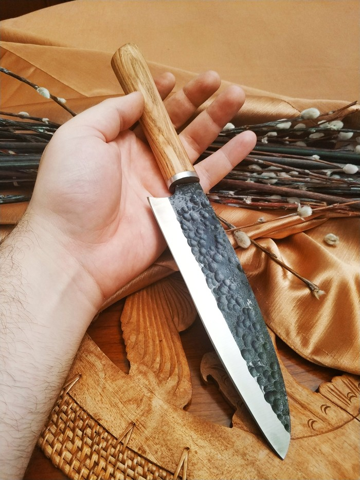 Дебютный сантоку) Vasverblades, Нож, Кузница, Мастерская, Своими руками, Длиннопост
