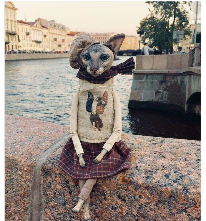 Замечательный мастер-кукольник Елена Алехина и ее сфинксы. Это прекрасно) Кот, Собака, Кукла, Санкт-Петербург, Длиннопост