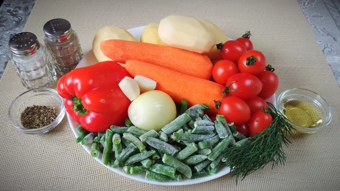 "Гарнир на раз-два. Запекаем Овощи в ""рукаве"" Рецепт, Жуй-Ка!, Гарнир, Духовка, Длиннопост, Овощи"