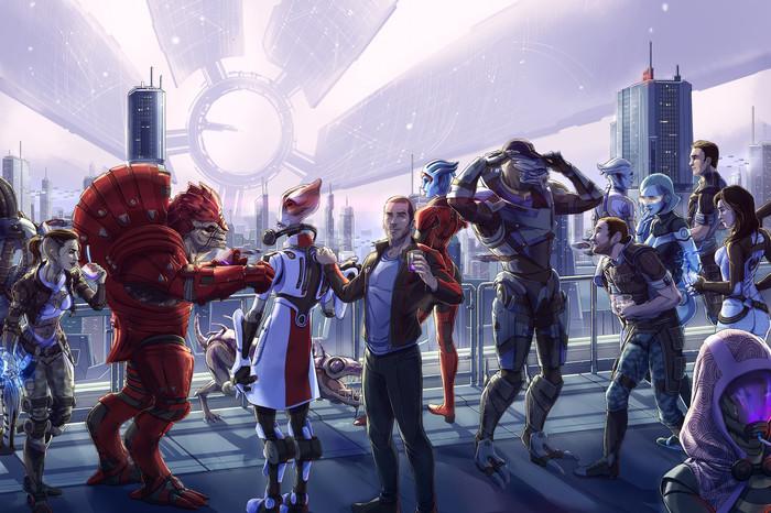 Команда. Арт, Картинки, Команда, Mass Effect, Eleonora Lisi