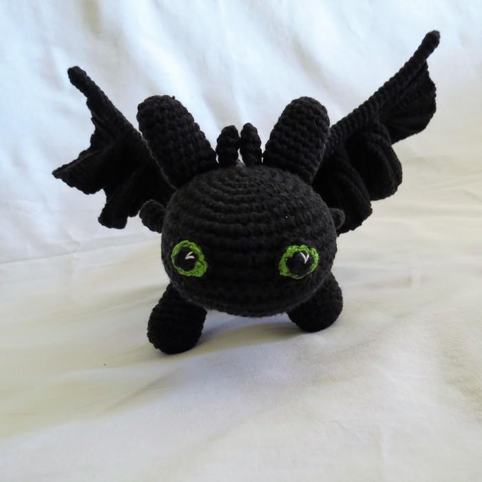Много Беззубика и немного зверят Длиннопост, Вязание крючком, Дракон, Игрушки, Рукоделие без процесса, Рукоделие