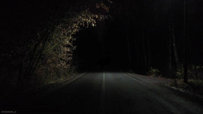 Ночь Фотография, Мобильная фотография, Начинающий фотограф, Ночь, Дорога