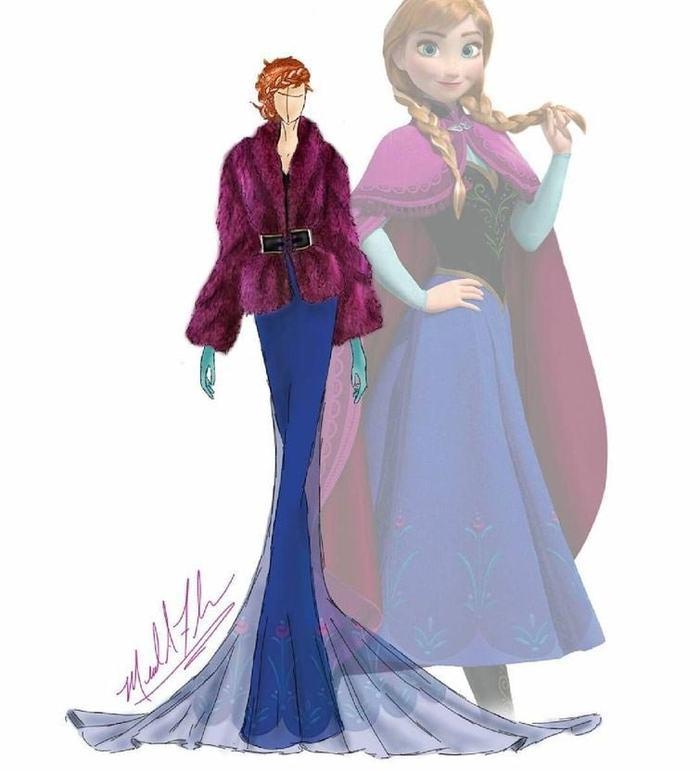 Диснеевские принцессы в нарядах от кутюр — изысканно и утончённо