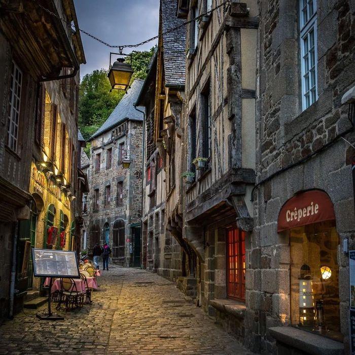 Вечер в Динане. / Dinan, Bretagne, France