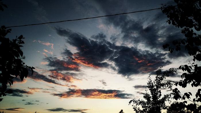 Небо прошедших выходных Небо, Фотография, Мобильная фотография, Новгородская область, Фотолюбитель