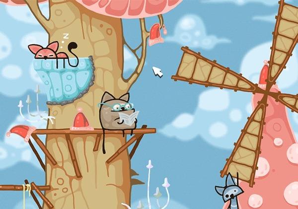 Грибные Коты. Бесплатная игра на Steam. Грибные Коты, Mushroom Cats, Free to Play, Бесплатно!, Steam, Гифка, Видео