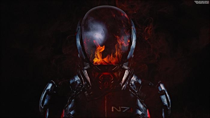 """""""Игра с огнем"""" - Mass Effect Andromeda 4K + Бонус Mass Effect, Mass Effect:Andromeda, Первопроходец, Огонь, Райдер, N7, Обои на рабочий стол, Видео"""