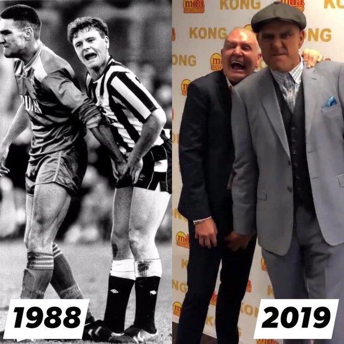 Тридцать лет спустя Винни Джонс, Футбол, Пол Гаскойн, Уимблдон, Старое фото, Знаменитости