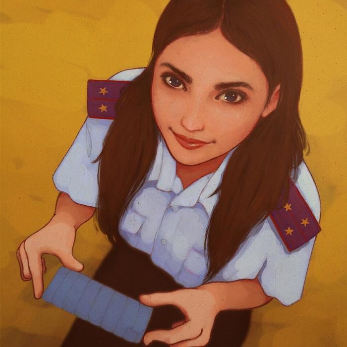 Актуальный диптих Арт, Иллюстрации, Портрет, Цифровой рисунок, Рисунок, Девушки