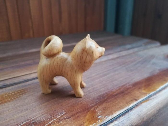 Собаки, лис и пень. Резьба по дереву, Собака, Заколка, Брелок, Статуэтка, Ручная работа, Рукоделие без процесса, Длиннопост