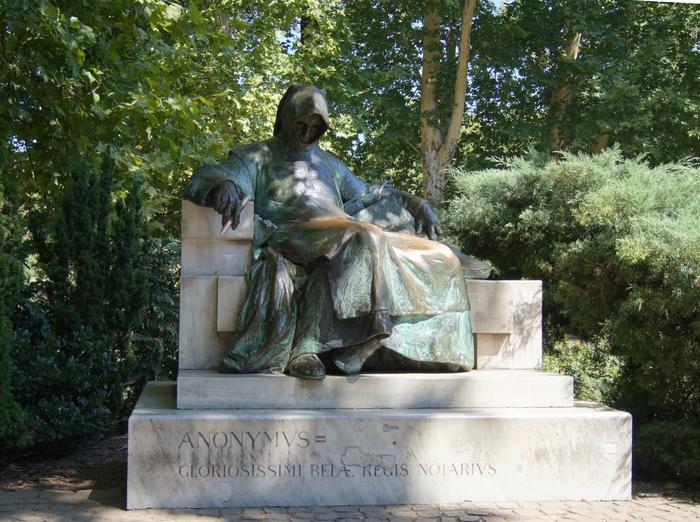 Анонимус.Венгерский Нестор-летописец. Венгрия, Будапешт, Анонимус, Длиннопост